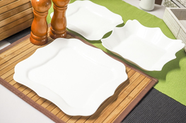 LUMINARC AUTHENTIC WHITE Serwis obiadowy 36/12