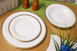 BGH PORCELANA BOGUCICE Serwis obiadowy 18/6 Victoria Gold