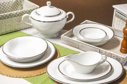 BGH PORCELANA BOGUCICE Serwis obiadowy 25/6 Victoria Platin