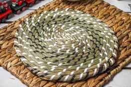 KOOPMAN Mata stołowa okrągła z trawy morskiej 29 cm