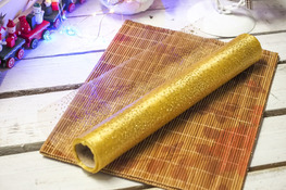 KOOPMAN Bieżnik świąteczny złoty 30 x 500 cm mix wzorów