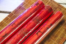 KOOPMAN Bieżnik świąteczny czerwony 36 x 200 cm mix wzorów