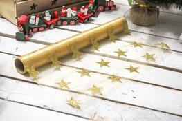 KOOPMAN Bieżnik świąteczny złoty 36 x 200 cm mix wzorów