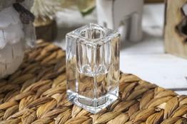 KOOPMAN Świecznik szklany h - 7.5 cm