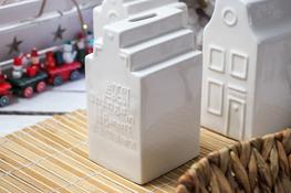 KOOPMAN Ceramiczna skarbonka domek mix wzorów