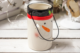 KOOPMAN Świąteczny świecznik ceramiczny - mix wzorów