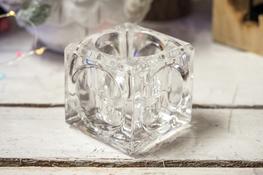 KOOPMAN Świecznik szklany h - 5.5 cm