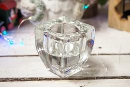 KOOPMAN Świecznik szklany h - 7 cm