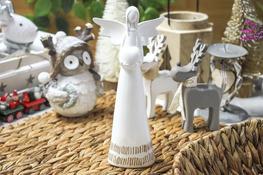 KOOPMAN Figurka ceramiczna Anioł 25 cm - mix wzorów