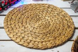 KOOPMAN Mata stołowa okrągła z trawy morskiej 35 cm