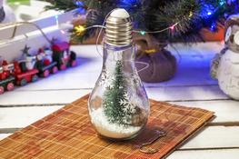 KOOPMAN Żarówka led z dekoracją świąteczną 18 cm