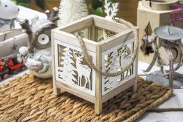 KOOPMAN Drewniany lampion - mix wzorów