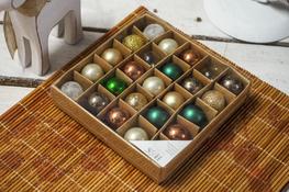 KOOPMAN Bombki choinkowe 2 cm wielokolorowe 25 szt - mix kolorów