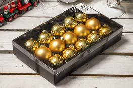 KOOPMAN Bombki choinkowe 4.5 cm złote, 15 szt.