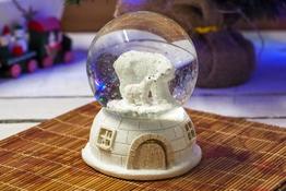 KOOPMAN Kula wodna led z zimowym motywem - mix wzorów