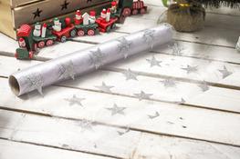 KOOPMAN Bieżnik świąteczny srebrny 36 x 200 cm mix wzorów