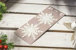 KOOPMAN Zawieszka świąteczna brokat biała 2 szt. mix wzorów