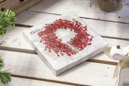 Serwetki papierowe Czerwony wieniec 20 sztuk 33 x 33 cm