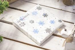 Serwetki papierowe Śnieżynki 20 sztuk 33 x 33 cm
