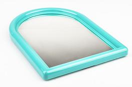 Lustro 29 x 21 cm z plastikową ramą z podpórką  - mix kolorów